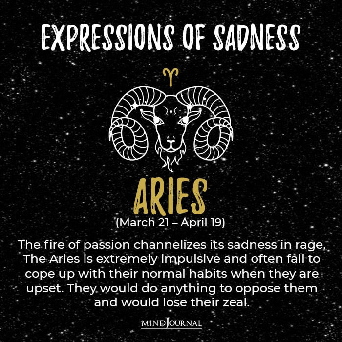 Expressions Of Sadness Aries