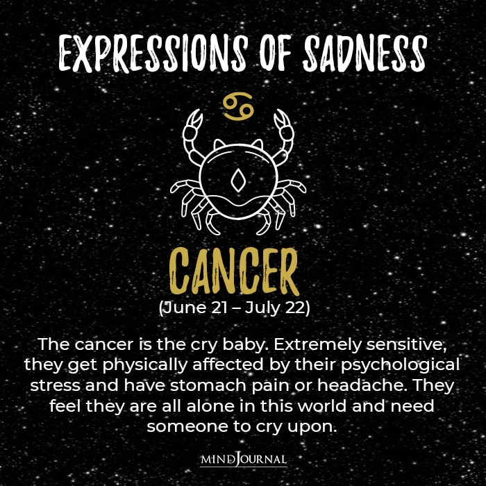Expressions Of Sadness Cancer