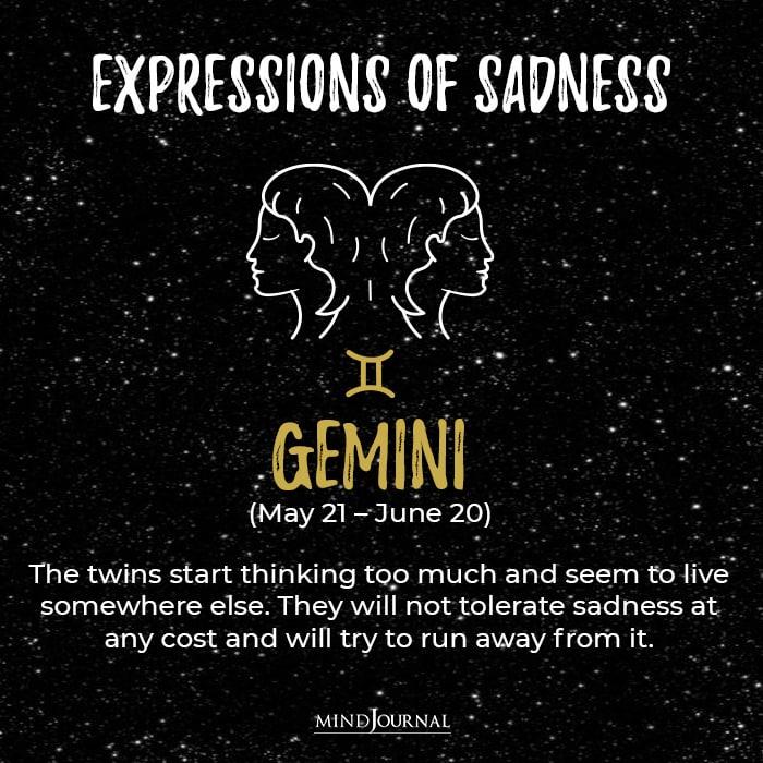 Expressions Of Sadness Gemini