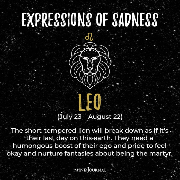 Expressions Of Sadness Leo