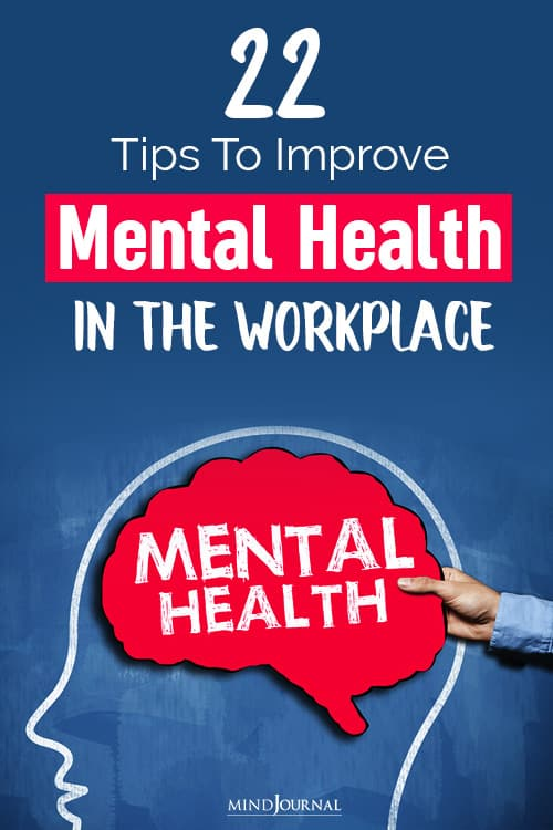 Improve Mental Health Workplace pin