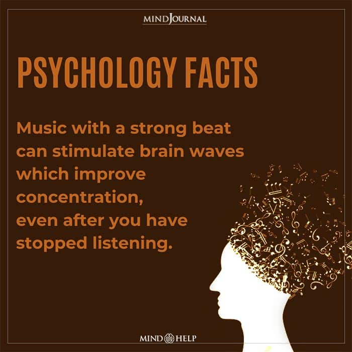 Music with a strong beat can stimulate brain