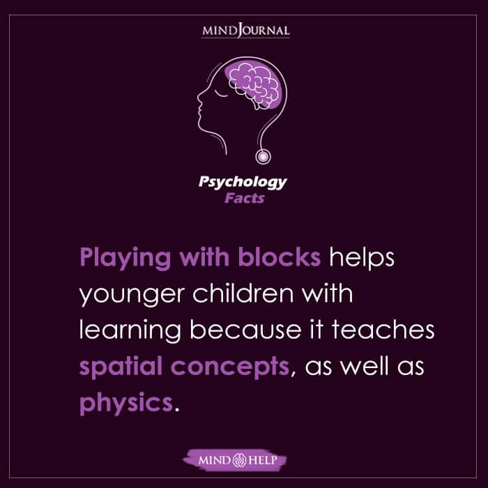 Playing With Blocks Helps Younger