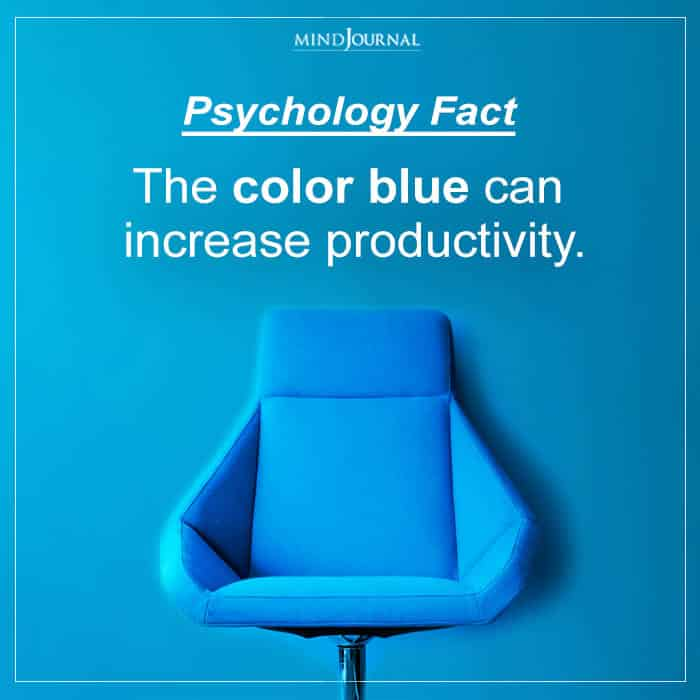 The color blue can increase productivity.