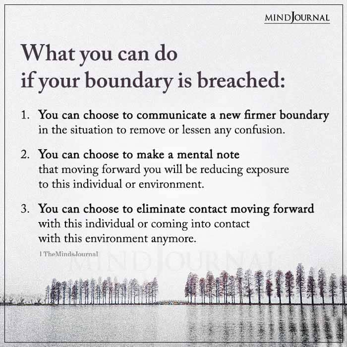 What You Can Do If Your Boundary Is Breached