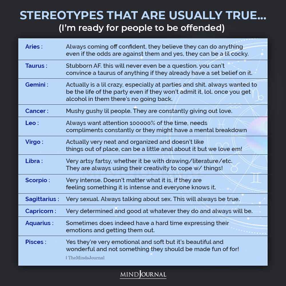 Zodiac Sign Stereotypes That Are Usually True