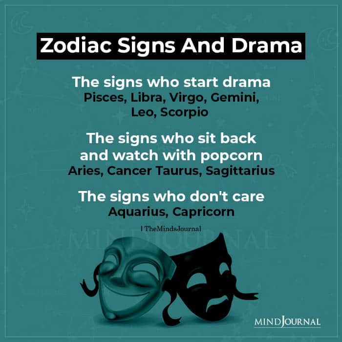 Zodiac Signs And Drama