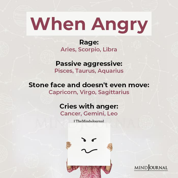 Zodiac Signs When Angry