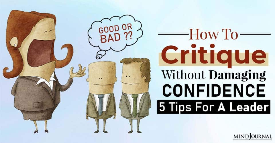 critique without damaging confidence