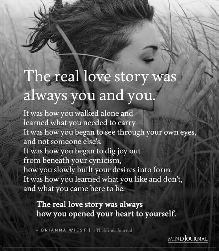 real love story was always you and you