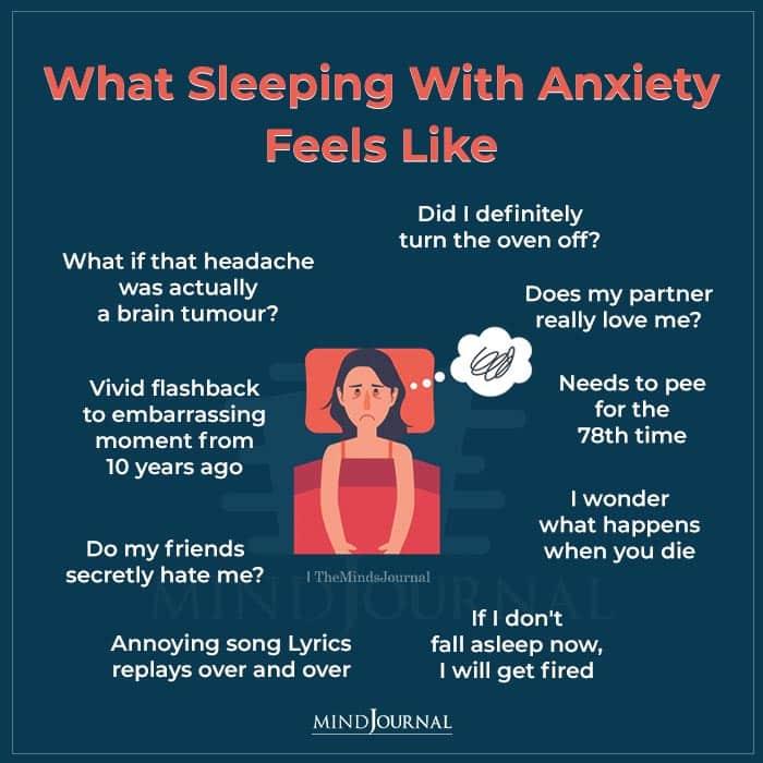 sleeping with anxiety feels like