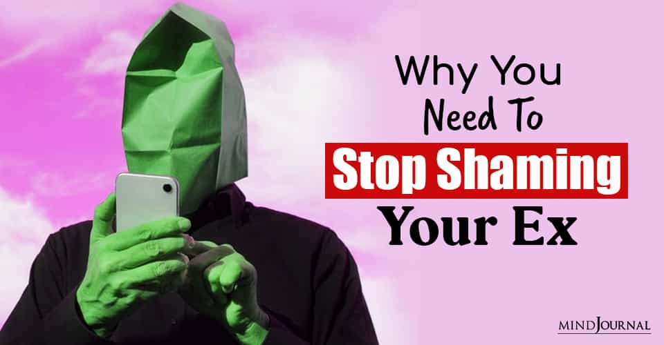 stop shaming your ex And their new partner