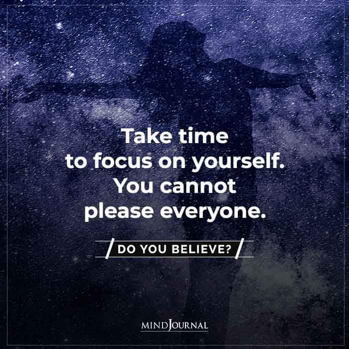 take time to focus on yourself