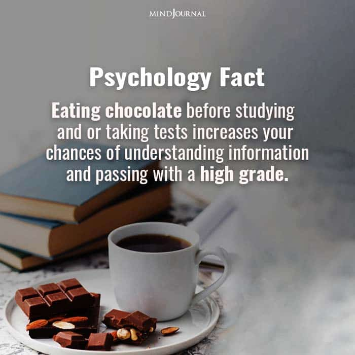 Eating Chocolate Before Studying and or Taking