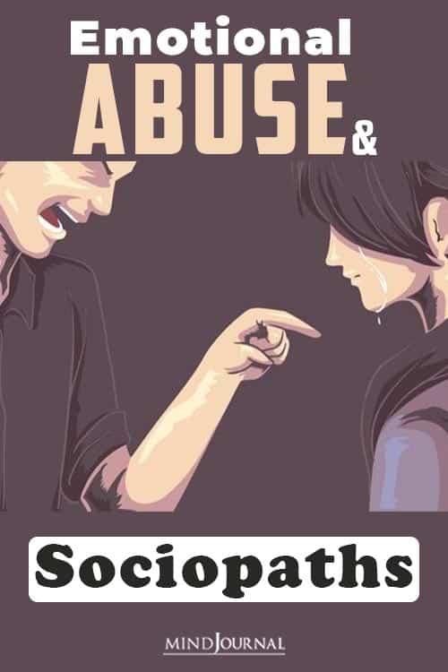Emotional Abuse and Sociopaths pin.