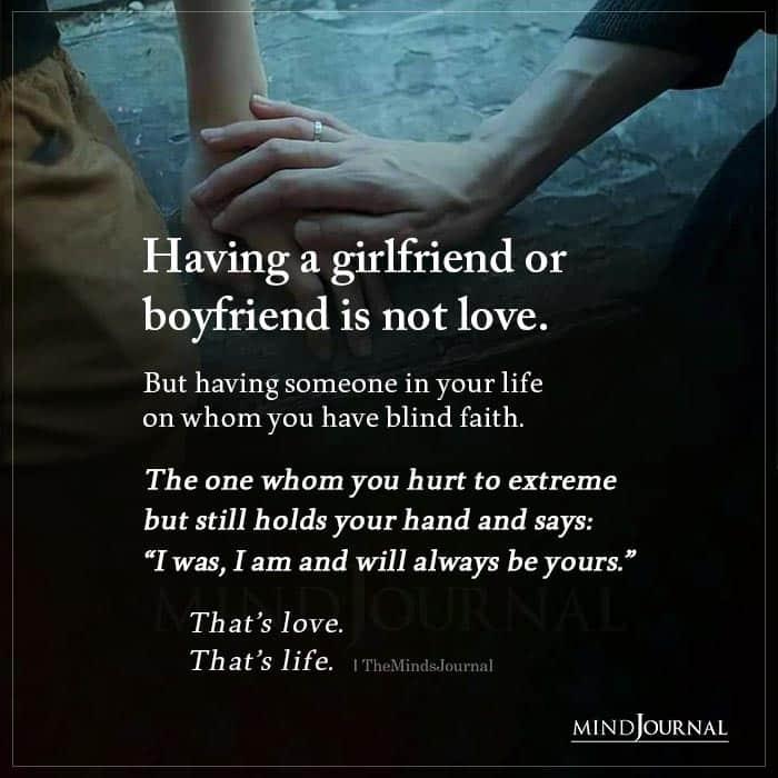 Having A Girlfriend Or Boyfriend Is Not Love
