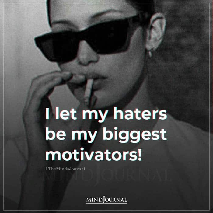 I Let My Haters