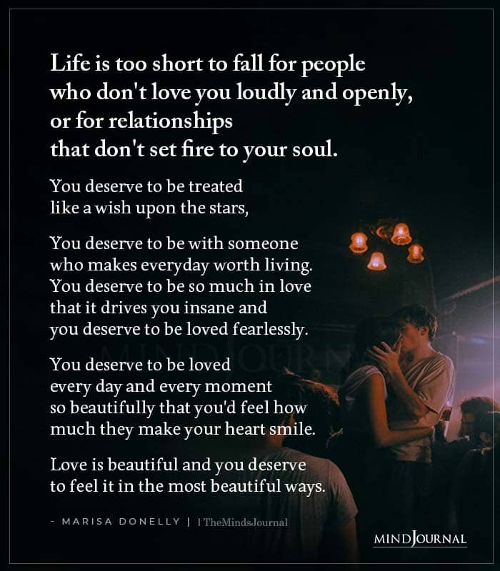 Life Is Too Short To Fall For People Who Dont Love You