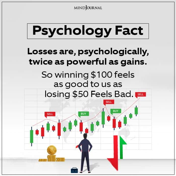 Losses are, psychologically,