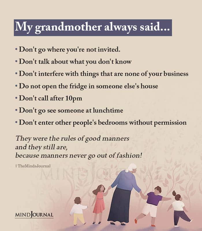 My Grandmother Always Said
