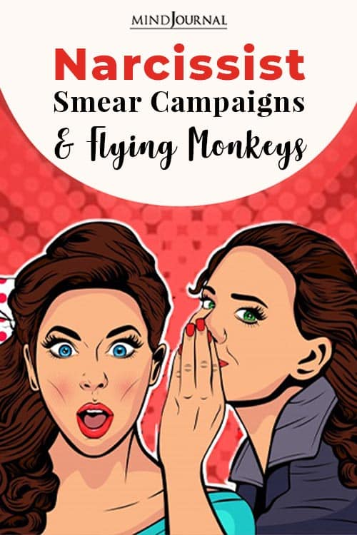 Narcissist Smear Campaigns and Flying Monkey pin