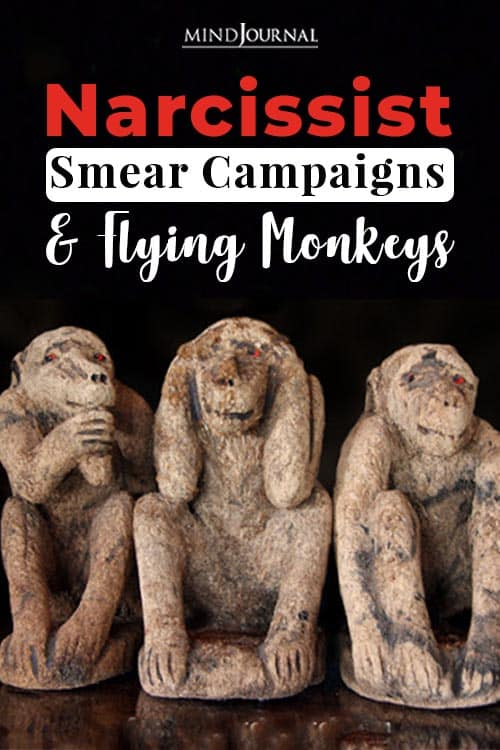 Narcissist Smear Campaigns and Flying Monkeys pin