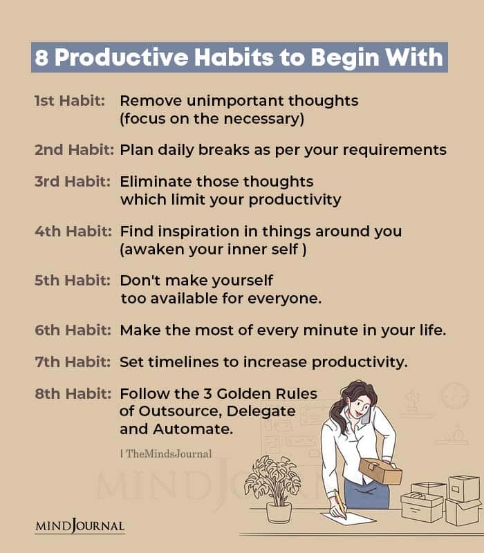 Productive Habits to Begin With