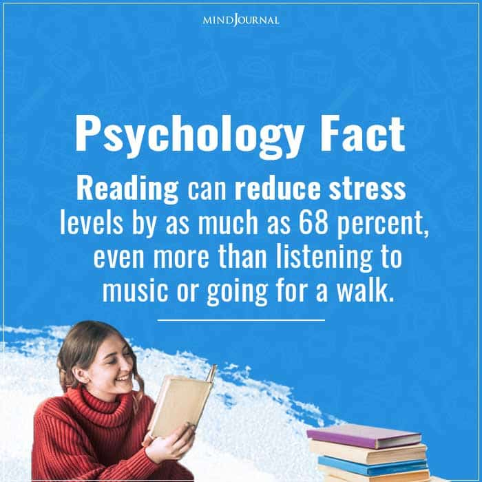 Reading can reduce