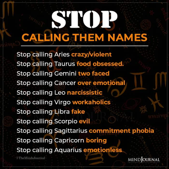 Stop Calling The Zodiac Signs Names