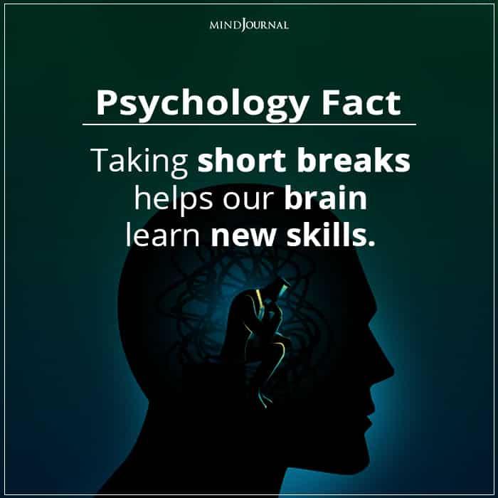 Taking Short Breaks Helps Our Brain Learn New Skills
