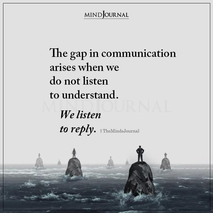 The Gap in Communication Arises When
