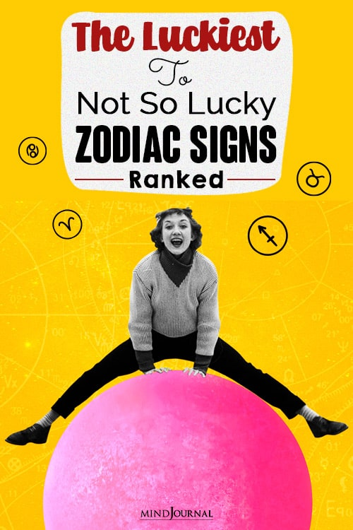 The Luckiest To Not So Lucky Zodiac Signs pin