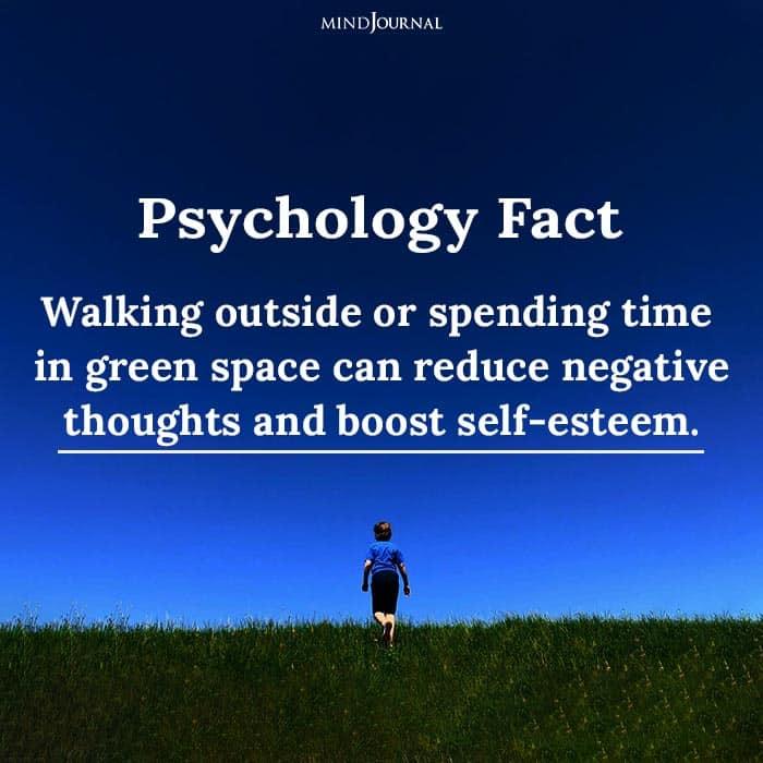 Walking outside or