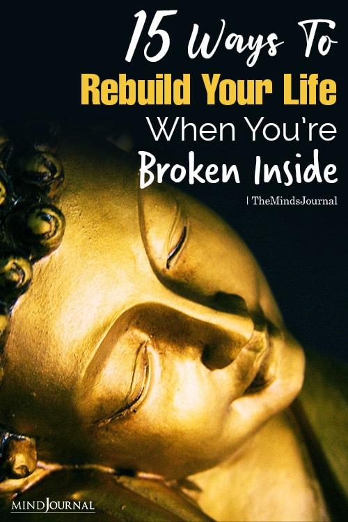 Ways To Rebuild Your Life pin