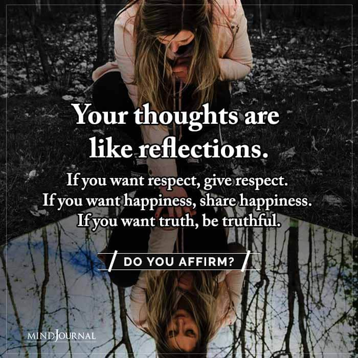 Your Thoughts Are Like Reflections