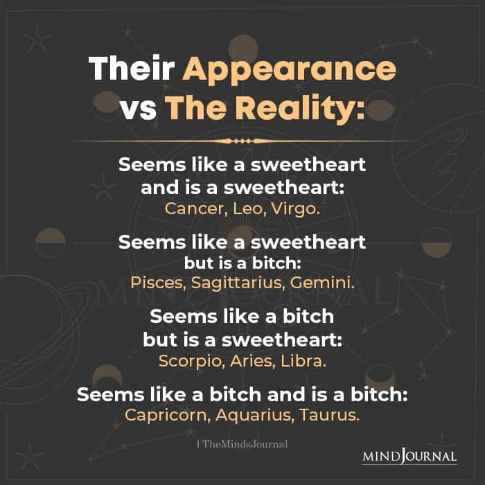 Zodiac Signs Appearance vs Reality