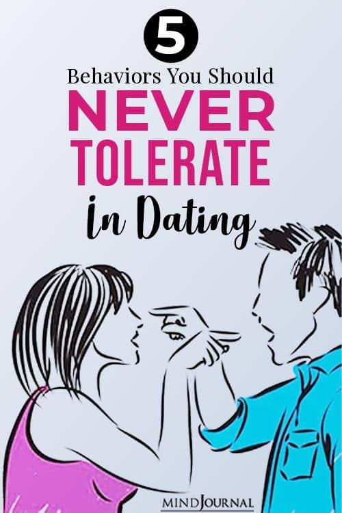 behaviors never tolerate in dating pinop