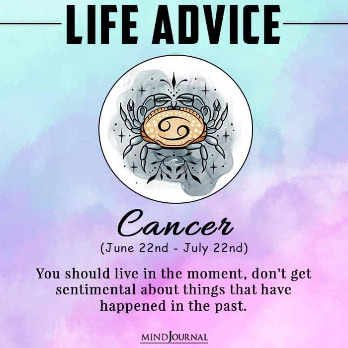 life advice cancer