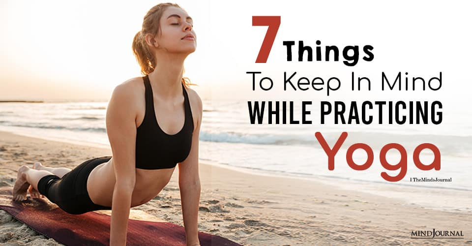 mindful while practicing yoga