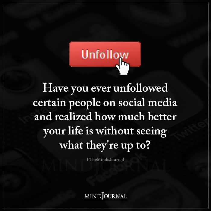 unfollowed people on social media