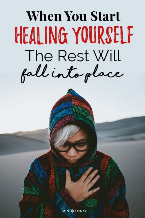 you start healing yourself pin