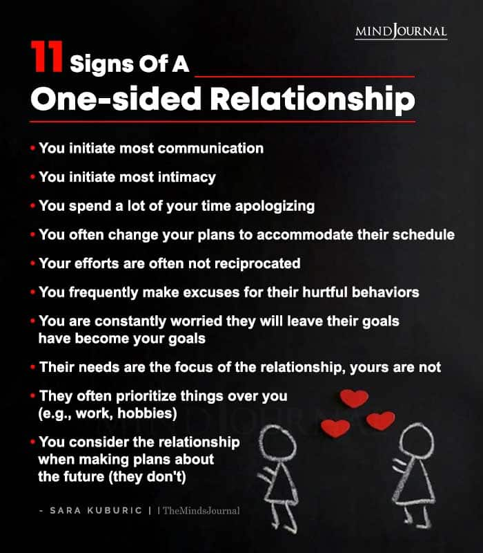 11 Signs Of A One sided Relationship