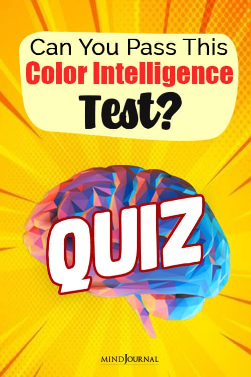 Can You Pass The Color Intelligence Test pin
