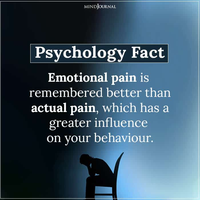 Emotional pain is