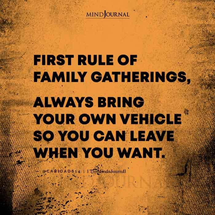 First Rule of Family Gatherings