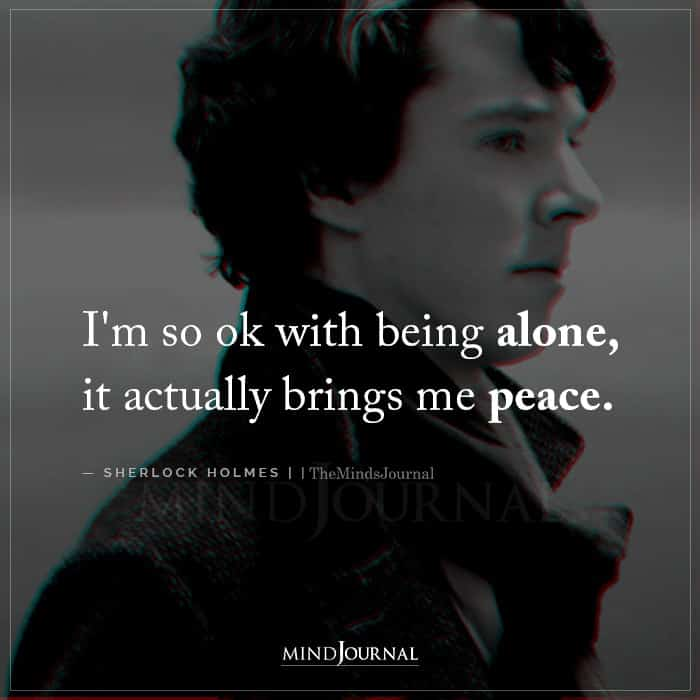 Im So Ok With Being Alone It