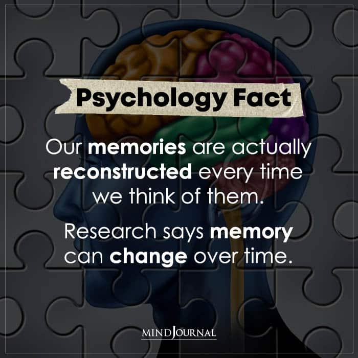 Our Memories Are Actually Reconstructed Every Time