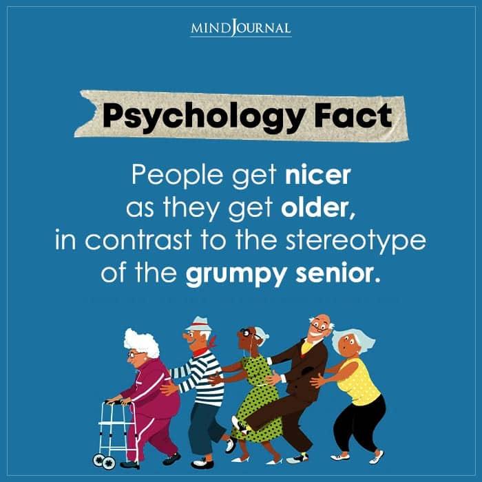 People Get Nicer As They Get Older
