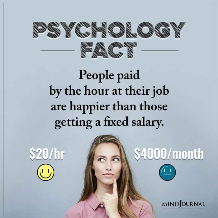 People Paid By The Hour At Their Job Are Happier