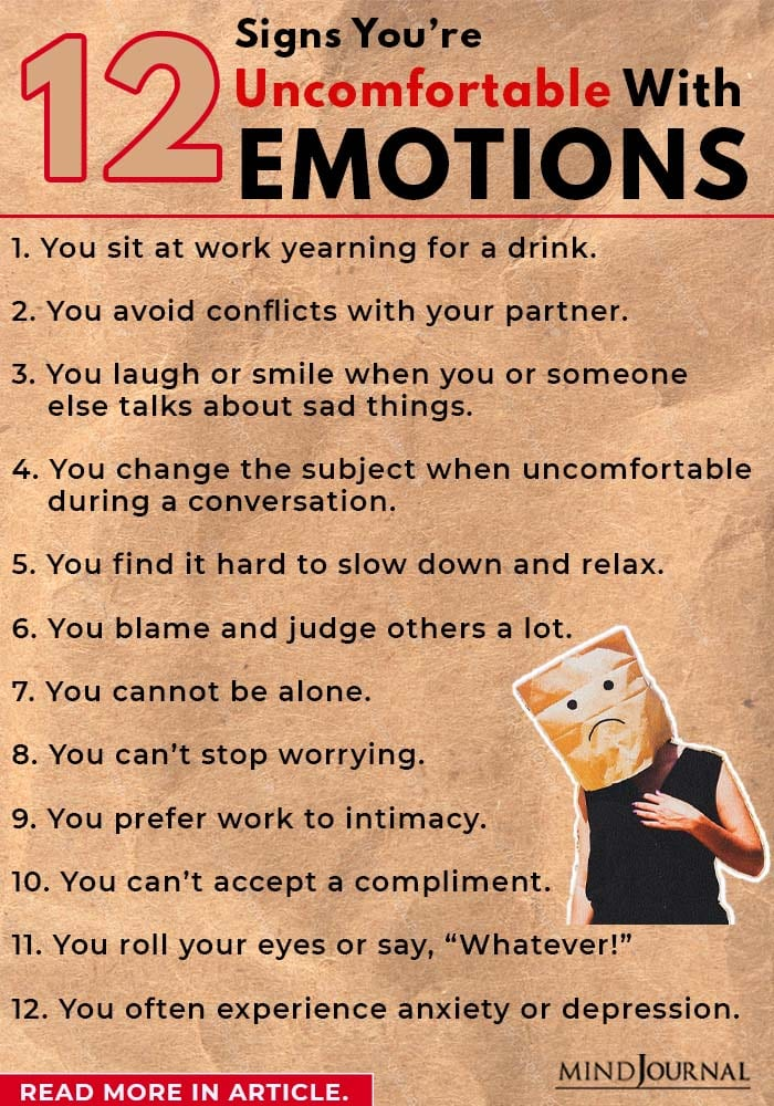 Signs You're Uncomfortable With Emotions info
